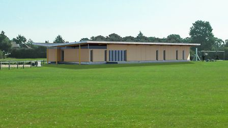 An architects impression of the new Ransomes sports pavilion.