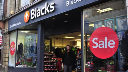 Blacks in Carr Street - soon to return to the Millets brand