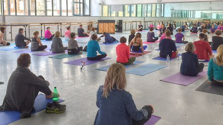 Yoga Day at DanceHouse at the Waterfront, July 25, 2015