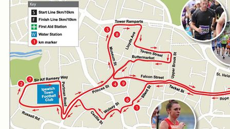 The routes of the Twilight road races