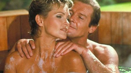 Fiona Fullerton and Sir Roger Moore