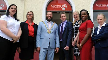 The official opening of the new Stafforce Recruitment facility at The Old Unicorn in Orwell Place, I