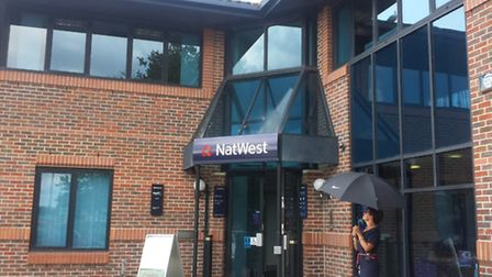Seagulls are dive-bombing customers at Natwest bank in Ransomes Europark to protect a baby seagull w