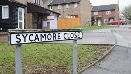 Armed officers and the police helicopter were called to the scene of the incident in Sycamore Close