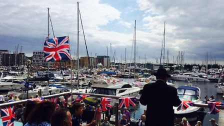 The Upper Deck at Isaacs over Ipswich Maritime Festival weekend 2015