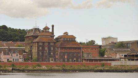The former Tolly Cobbold brewery in Ipswich.