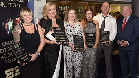 Best Bar None awards winners at Ipswich Town FC on Thursday evening