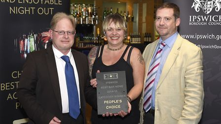 Best Bar None awards winners The Dove at Ipswich Town FC on Thursday evening