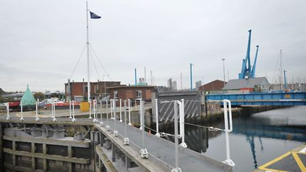 The lock gates in Ipswich - where the new crossing could be built.