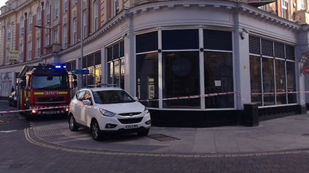 Fire crews were called to Fraser House in Museum Street, Ipswich after a suspected gas leak was repo
