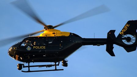 The police helicopter was deployed to help with the search.