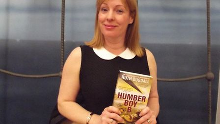 Ruth Dugdall launching her 'first' 2015 novel, Humber Boy B, at Felixstowe Library during a summer t