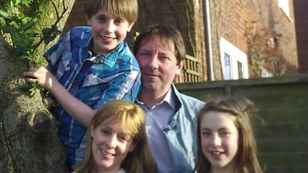 Ruth Dugdall, husband Andrew, daughter Amber and son Eden. 'There is a lot of laughter in our house