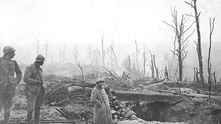 The early months of the war soon led to a stalemate on the Western Front. This is a French trench