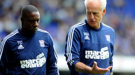 Mick McCarthy and Terry Connor mull things over