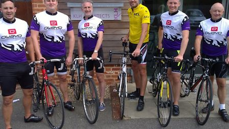 Team from KLH Architects, Copdock are preparing for the London to Paris charity cycle dride : (Left