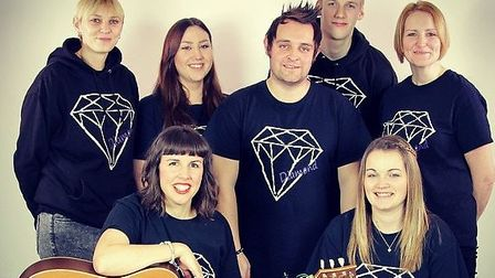 Gareth Grayston, centre, with his group which will be performing at the Ipswich Corn Exchange in Oct
