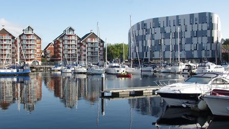 Ipswich Waterfront on lovely sunny day