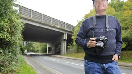 Charles Whitfield King returns to the A14 bridge over Bramford Road where he took a shot of the cons