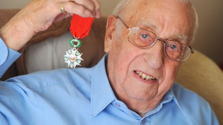 """Basil """"Gordon"""" Catling has been awarded a French Legion of Honour medal for his services during the"""
