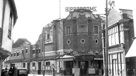"""The Hippodrome Theatre, St Nicholas Street, Ipswich, in April 1955. The show then was """"Oh What a Nig"""