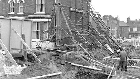 Colin Sheppard's home in Bedford Street, Ipswich was shored up after huge cracks appeared in the bui