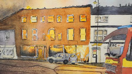 Visions of Sudbury exhibition opens today at St Peter's Church, Market Hill, Sudbury. Picture by Jul