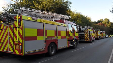 Firefighters attended a fire in Kerry Avenue