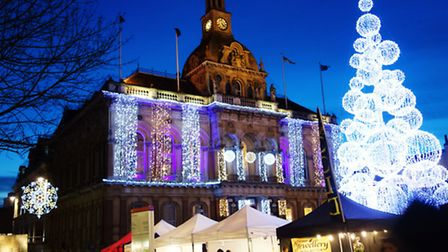 Ipswich Christmas lights are being switched on.