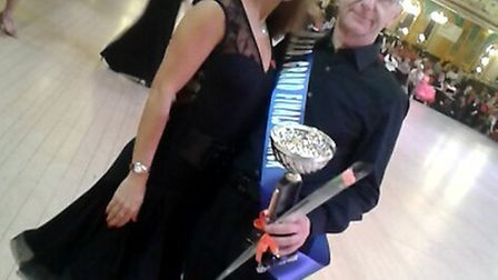Owner of Evergreen Garage Crowfield, Jim Davey, with dance partner Jemma Girling at the Blackpool Gr