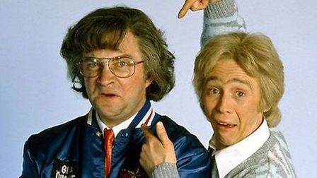 Harry Enfield and Paul Whitehouse as DJs Smashie and Nicey