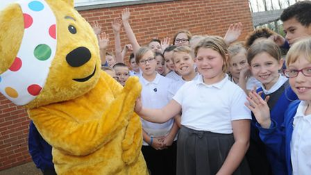 Pudsey visits children at Sprites primary, Ipswich Class 13 Year 6