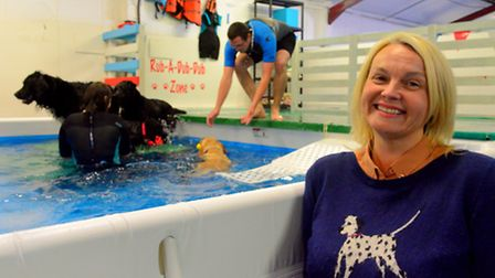 Candy Rose of Suffolk Canine Creche in Martlesham who has installed a pool for the dogs.