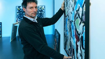 Artist Edward Pile who is exhibiting at the Waterfront Gallery, UCS, Ipswich
