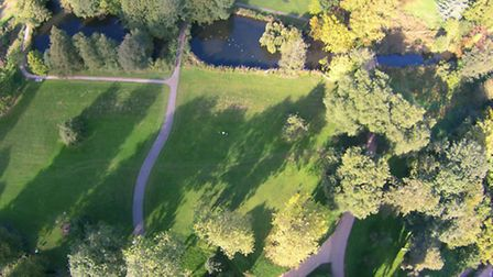 David Mortimer drone picture of Ipswich from above