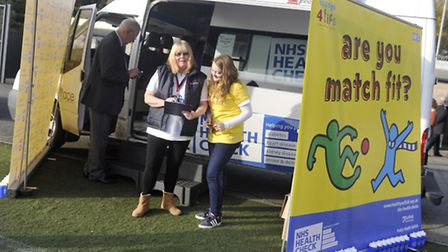 Nurses carried out health checks for men at the Ipswich Town match on Saturday.