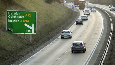 The A14 that needs resurfacing according to local residents.
