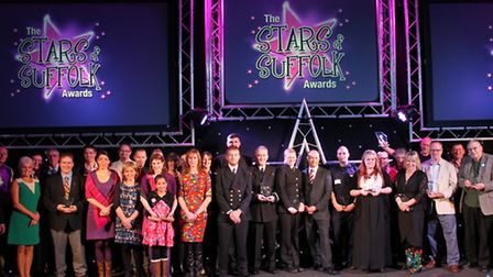 All of the winners at the Stars of Suffolk Awards 2014. Photograph Simon Parker