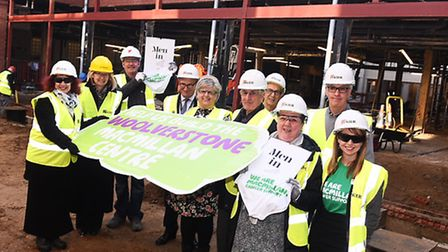 Woolverstone Wish appeal hits the half million mark. Fundraisers and supporters meet on the site
