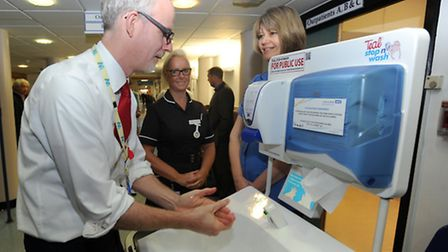 The 'Stay Well this Winter' campaign at West Suffolk Hospital in Bury. Ch Exec Dr Stephen Dunn using
