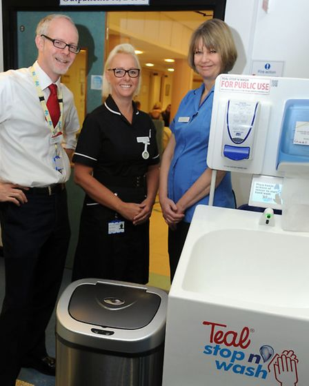 The 'Stay Well this Winter' campaign at West Suffolk Hospital in Bury. Ch Exec Dr Stephen Dunn, Rowa