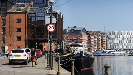 Sunny day at Ipswich waterfront