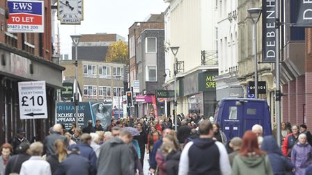 Ipswich town centre shopping.
