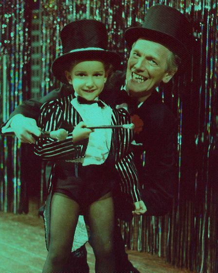Suzie took her first steps on stage with dad Dennis Lowe at the Spa.