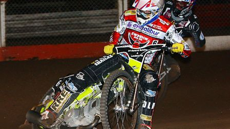Speedway rider Darryl Ritchings - picture by Les Aubrey - April 2014