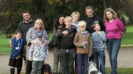 Families who campaigned against the closure of the Crossroads Saturday Club for children on the auti