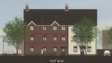 Artist's impression of the homes there were proposed for lane close to Poplar Lane, Sproughton.