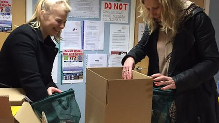 Ipswich Building Society staff volunteering at the FIND charity