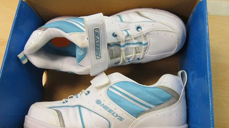A pair of the rogue trainers found at Felixstowe