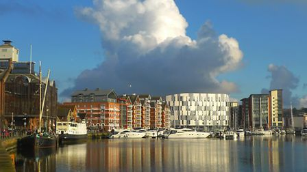 Amazing cloud formation over Ipswich Waterfront, in January 2016, by Star reader John Field